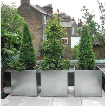 Galvanised Cube Planters