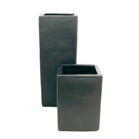 Graphite Ceramic Tall Square