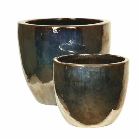 Metal Glaze Couple Ceramic