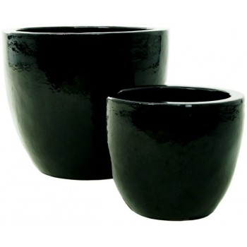 Black Ceramic Couple Planter